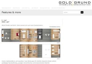 Ausschnitt der Goldgrund-Webseite