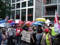 Der 'Sündenblock' und die Regenschirme