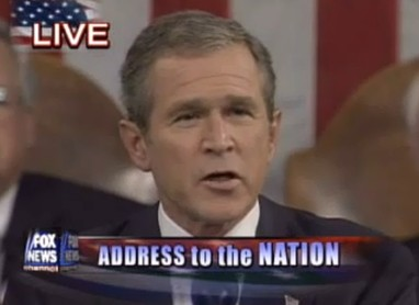 """Justice will be done"" (George W. Bush, Rede an die Nation vom 20. Sep. 2001)"